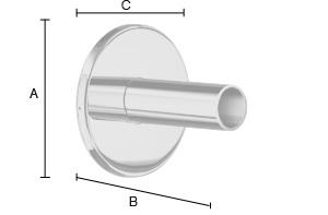 SMEDBO DRY Bad Montage-Kit für versteckten Elekroanschluss, passend für FK710 und FK711 Edelstahl poliert