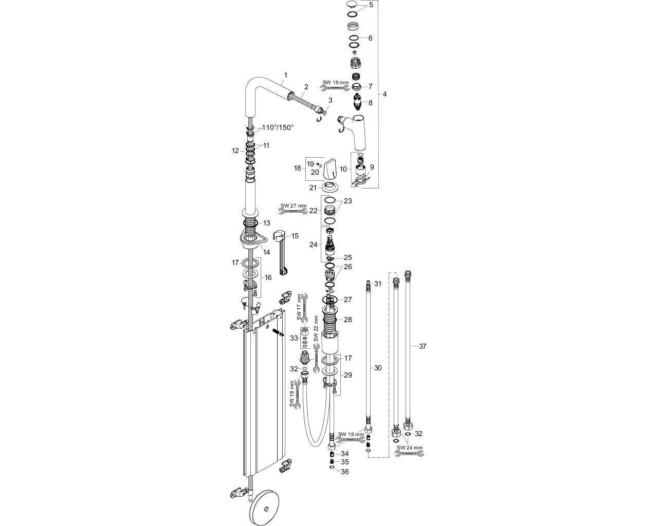 HG 2-Loch SPTM 200 Metris Select M71