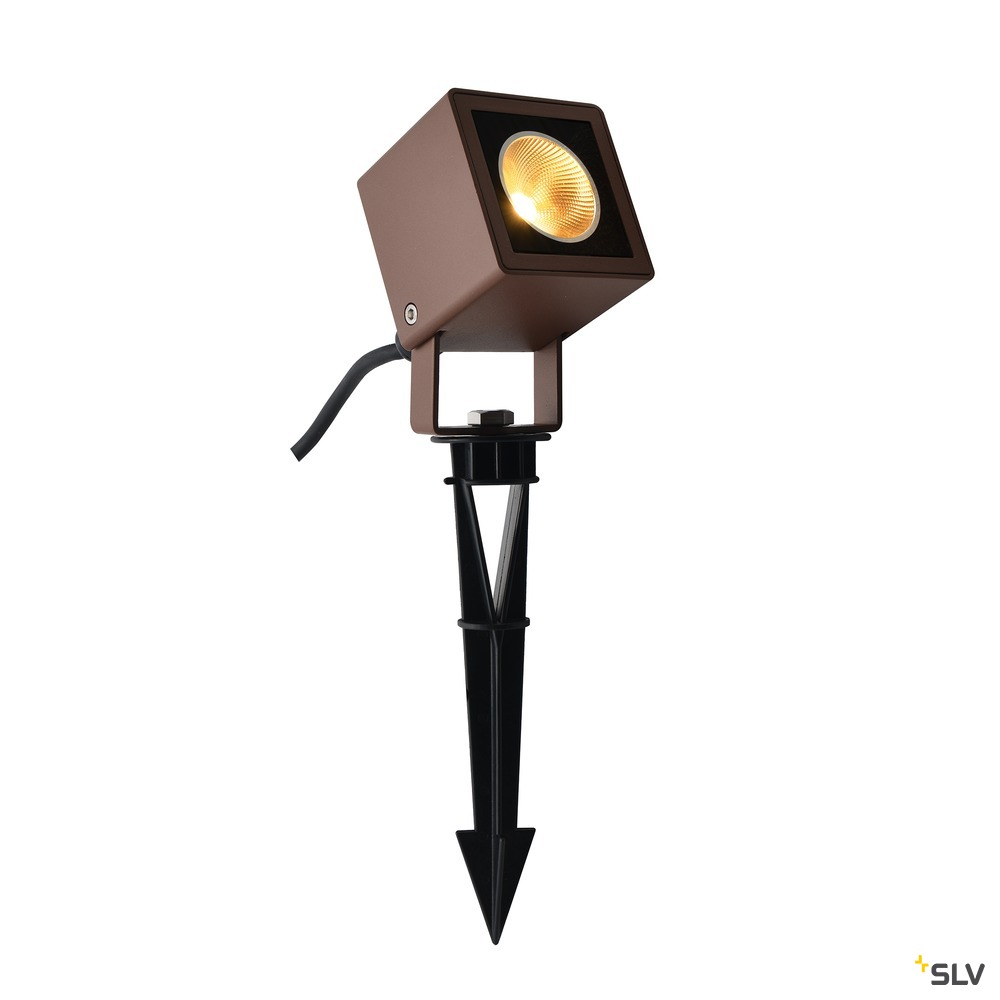 NAUTILUS 10 Spike, LED Outdoor Erdspießleuchte, rost farbend IP65, 3000K, 45°