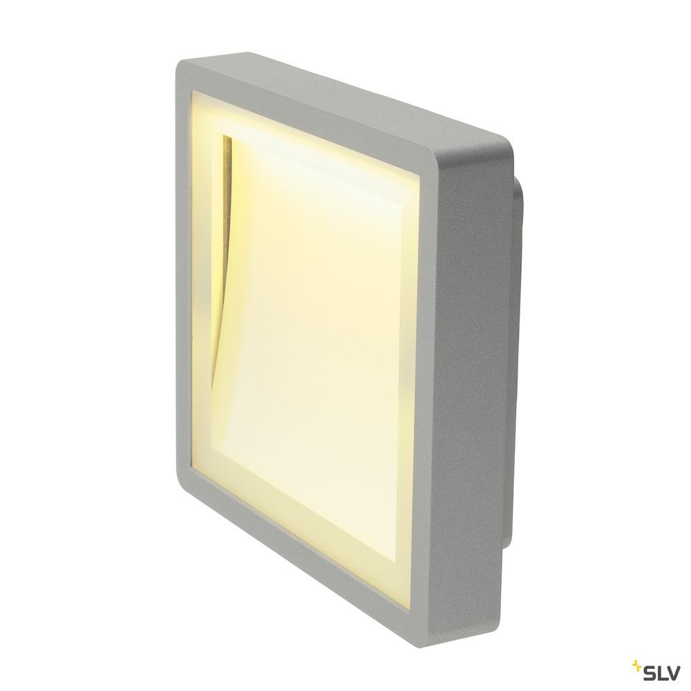 INDIGLA, Wand- und Deckenleuchte, LED, 3000K, IP54, silbergrau, 8,3W