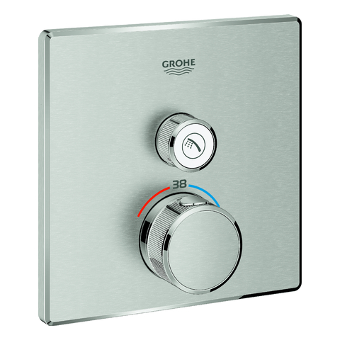 GROHE Thermostat Grohtherm SmartControl 29123 eckig FMS 1 ASV supersteel