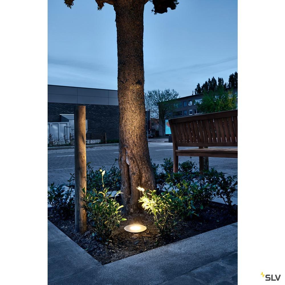 DASAR 150 PREMIUM, Outdoor Bodeneinbauleuchte, LED, 3000K, IP67, eckig, edelstahl, 60°, L/B/H 14,8/14,8/11 cm, 13W