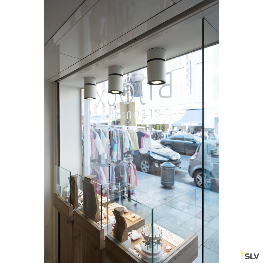 SUPROS MOVE CL, Indoor LED Deckenaufbauleuchte, rund, weiß, 3000K, 60° Reflektor, CRI90, 2600lm weiß