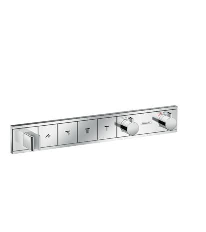 HG Thermostat Unterputz RainSelect Fertigset 4 Verbraucher + Halter chrom