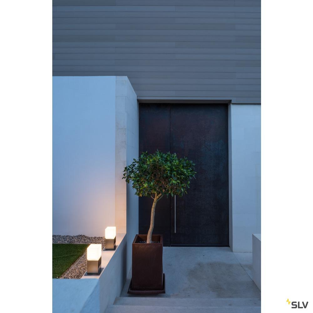 SQUARE POLE 30 LED, LED Outdoor Stehleuchte, IP44, Edelstahl 316, 3000K