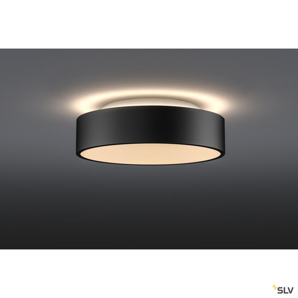 MEDO 30 CW AMBIENT, LED Indoor Wand- und Deckenaufbauleuchte, DALI, schwarz, 3000/4000K