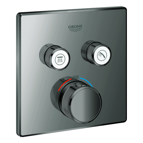 GROHE Thermostat Grohtherm SmartControl 29124 eckig FMS 2 ASV hard graphite