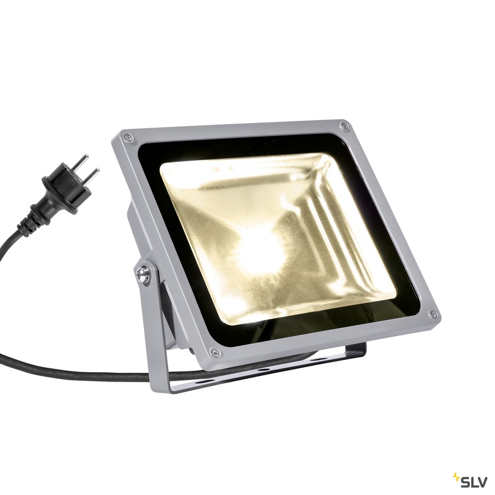 LED OUTDOOR BEAM, silbergrau, 50W, warmweiss, 100°, IP65