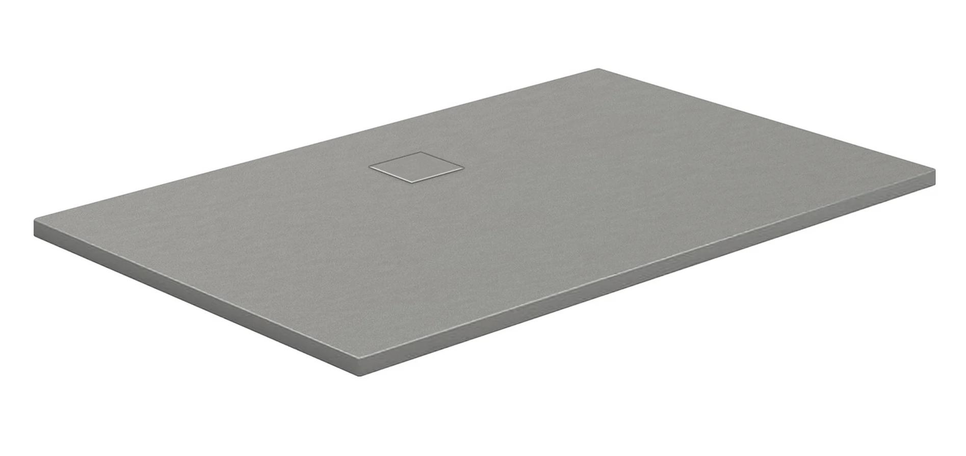 HSK Marmor-Polymer-Duschwannen, Steinoptik - Rechteck 90x140 Steingrau ohne AntiSlip-Beschichtigung
