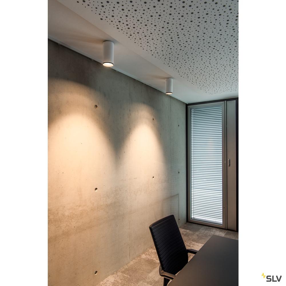 NUMINOS® CL DALI M, Indoor LED Deckenaufbauleuchte weiß/schwarz 4000K 60° weiß