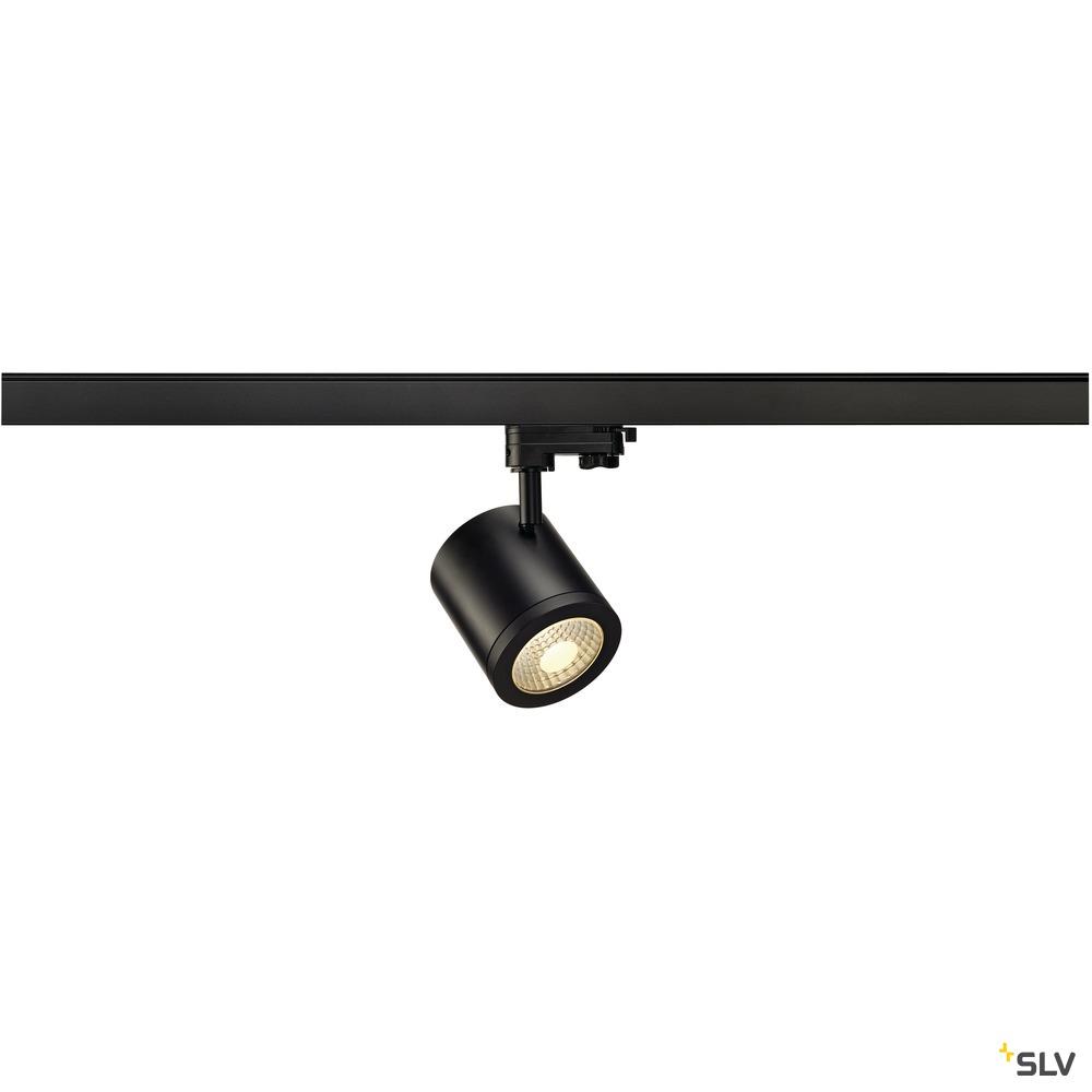 ENOLA_C, Spot für Hochvolt-Stromschiene 3Phasen, LED, 3000K, rund, schwarz, 35°, 11,2 W, inkl. 3Phasen-Adapter