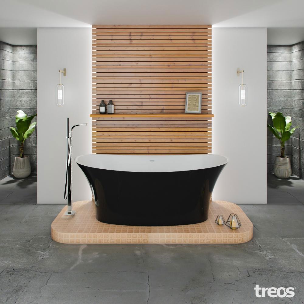 Treos Mineralguss Badewanne freistehend 1700x783x635 mm