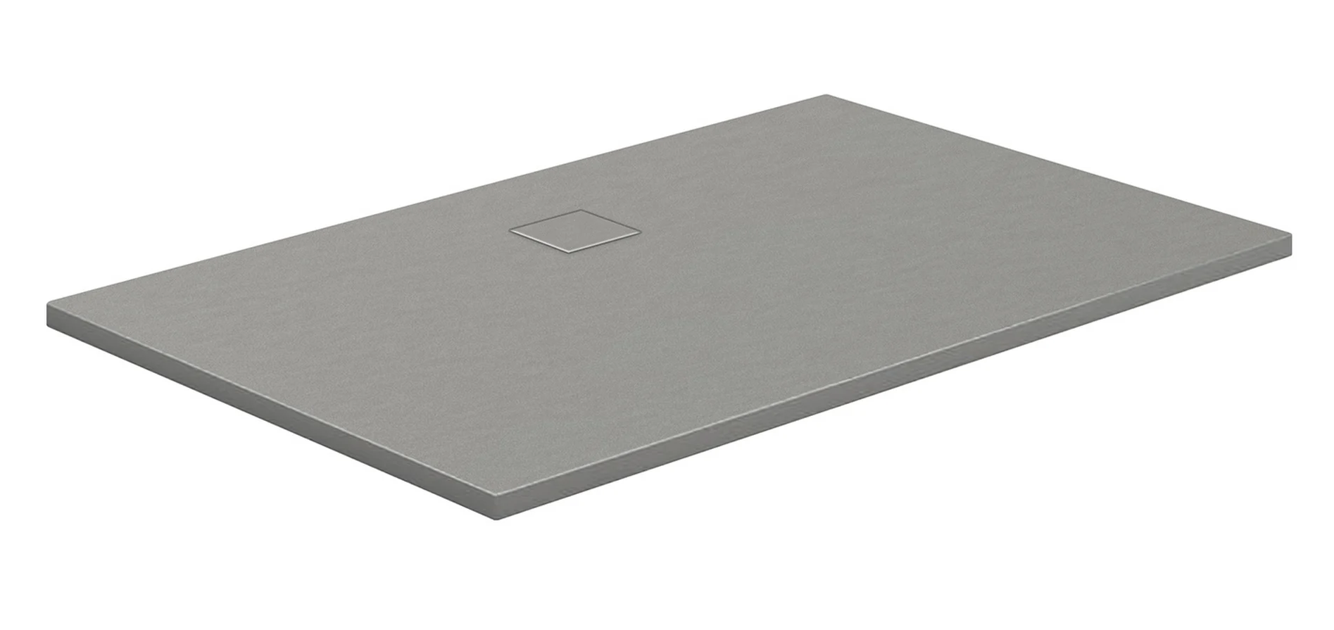 HSK Marmor-Polymer-Duschwannen, Steinoptik - Rechteck 90x120 Anthrazit ohne AntiSlip-Beschichtigung