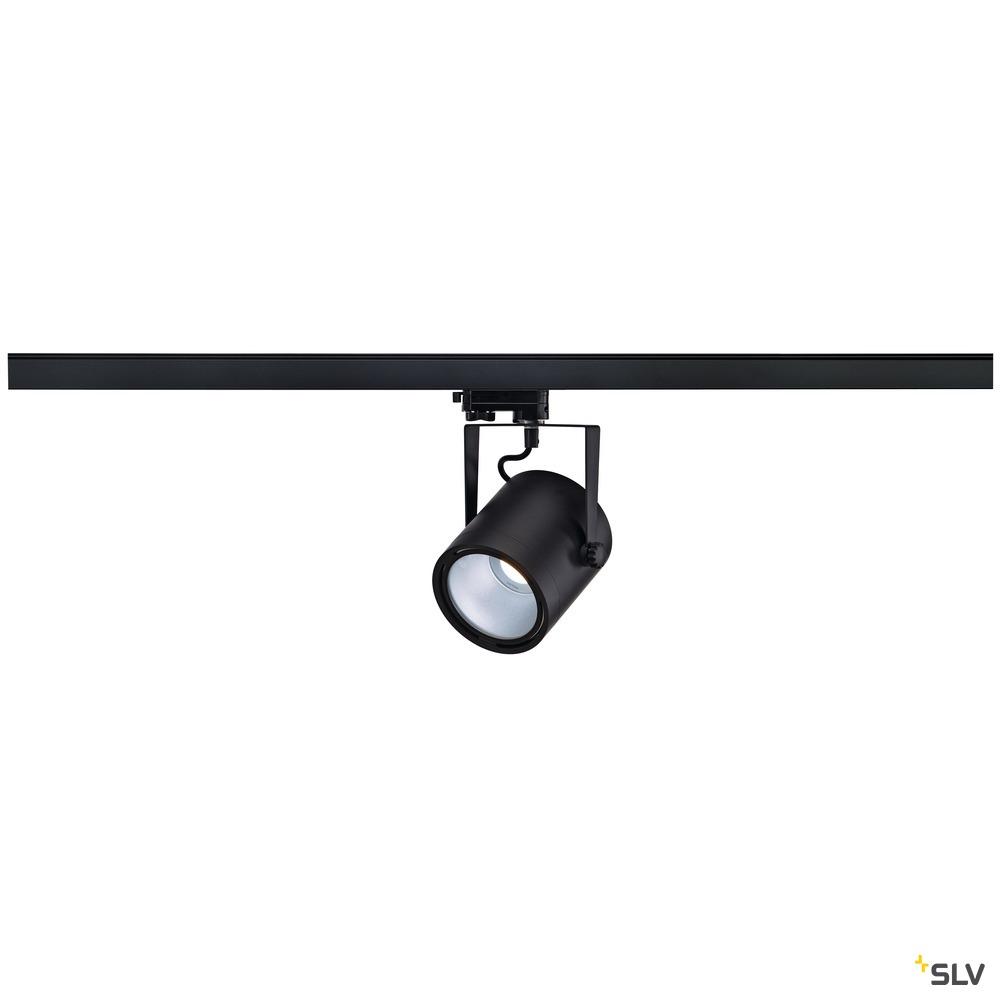 EURO SPOT LED DISK 800, Spot für Hochvolt-Stromschiene 3Phasen, LED, 4000K, rund, schwarz, 60°, 11W, inkl. 3Phasen-Adapter