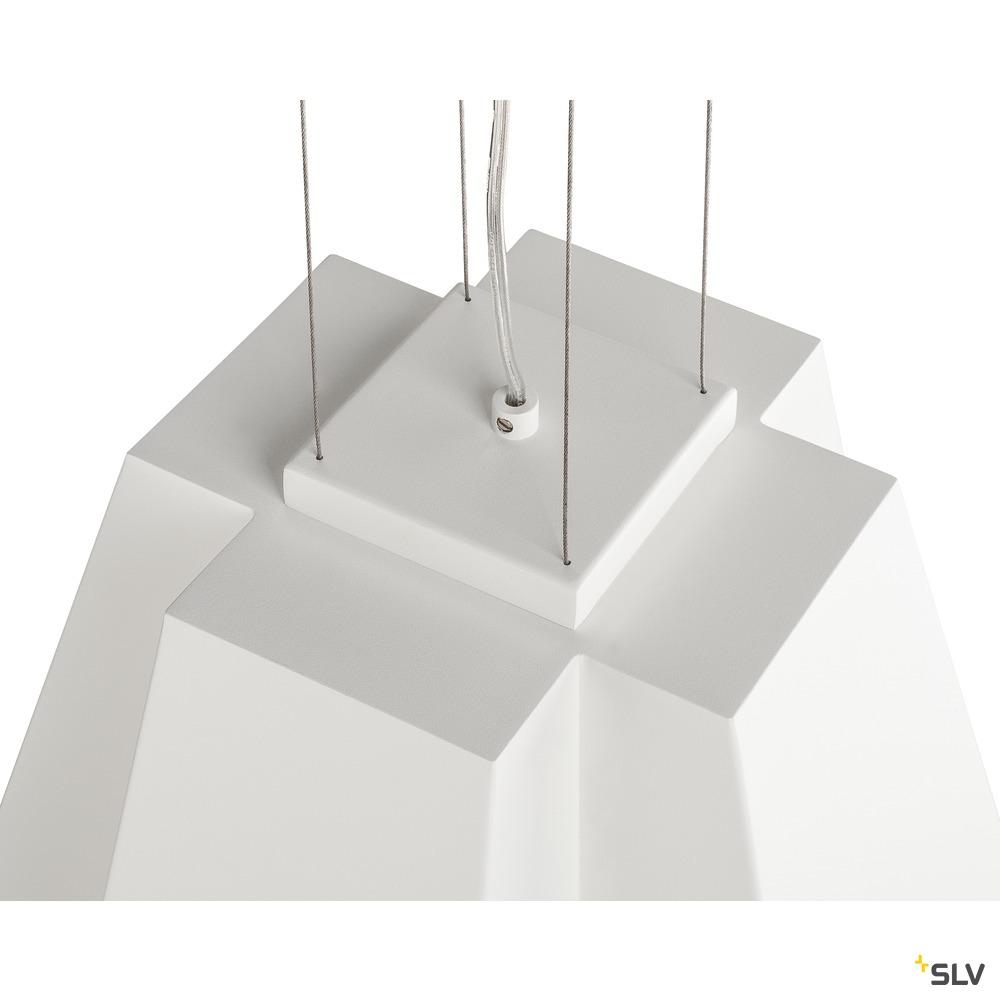 SOBERBIA 31, Pendelleuchte, LED, 2700K, eckig, weiß, L/B/H 31/31/23 cm, 25,4W