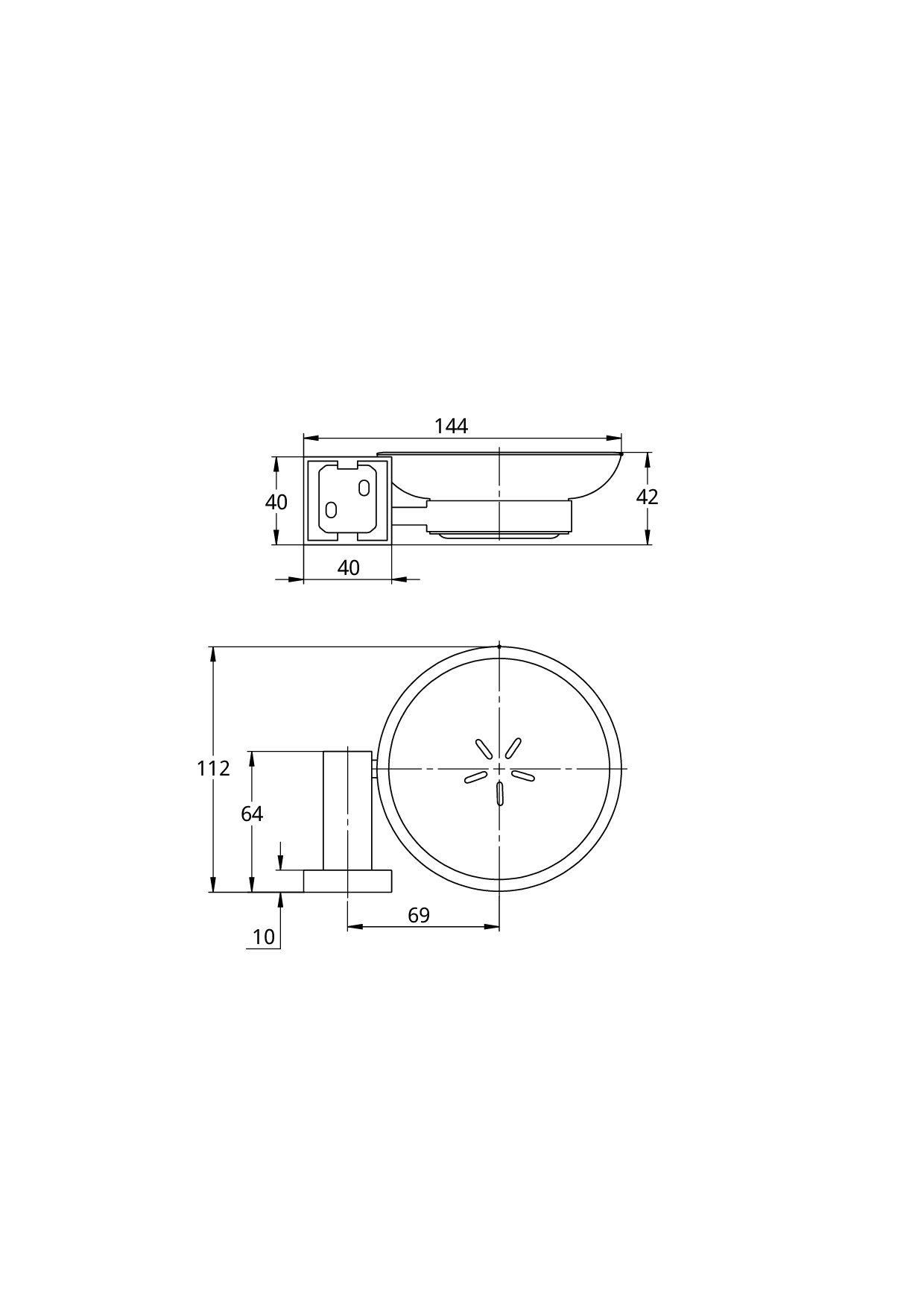 Treos Seifenhalter Serie 505