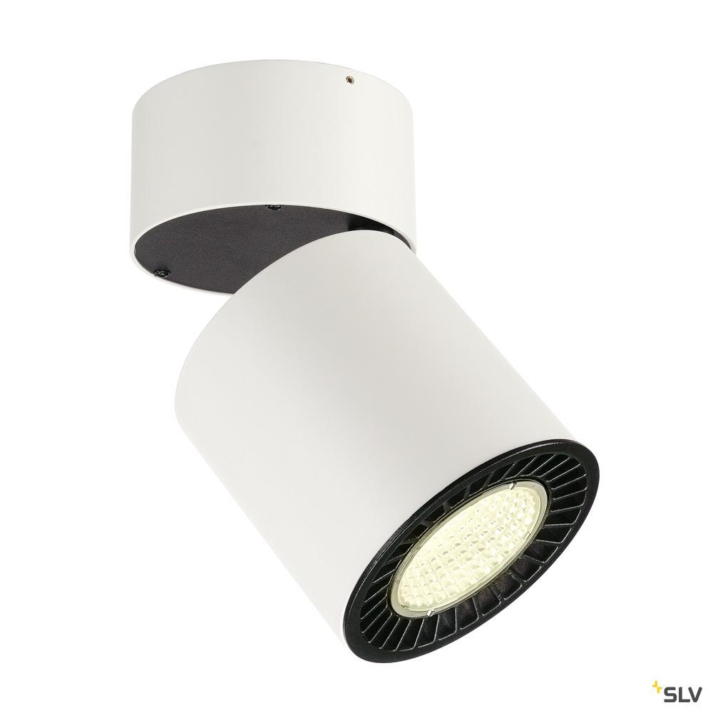 SUPROS, Deckenleuchte, LED, 4000K, rund, weiß, 3300lm, 60° Reflektor, 33,5W weiß