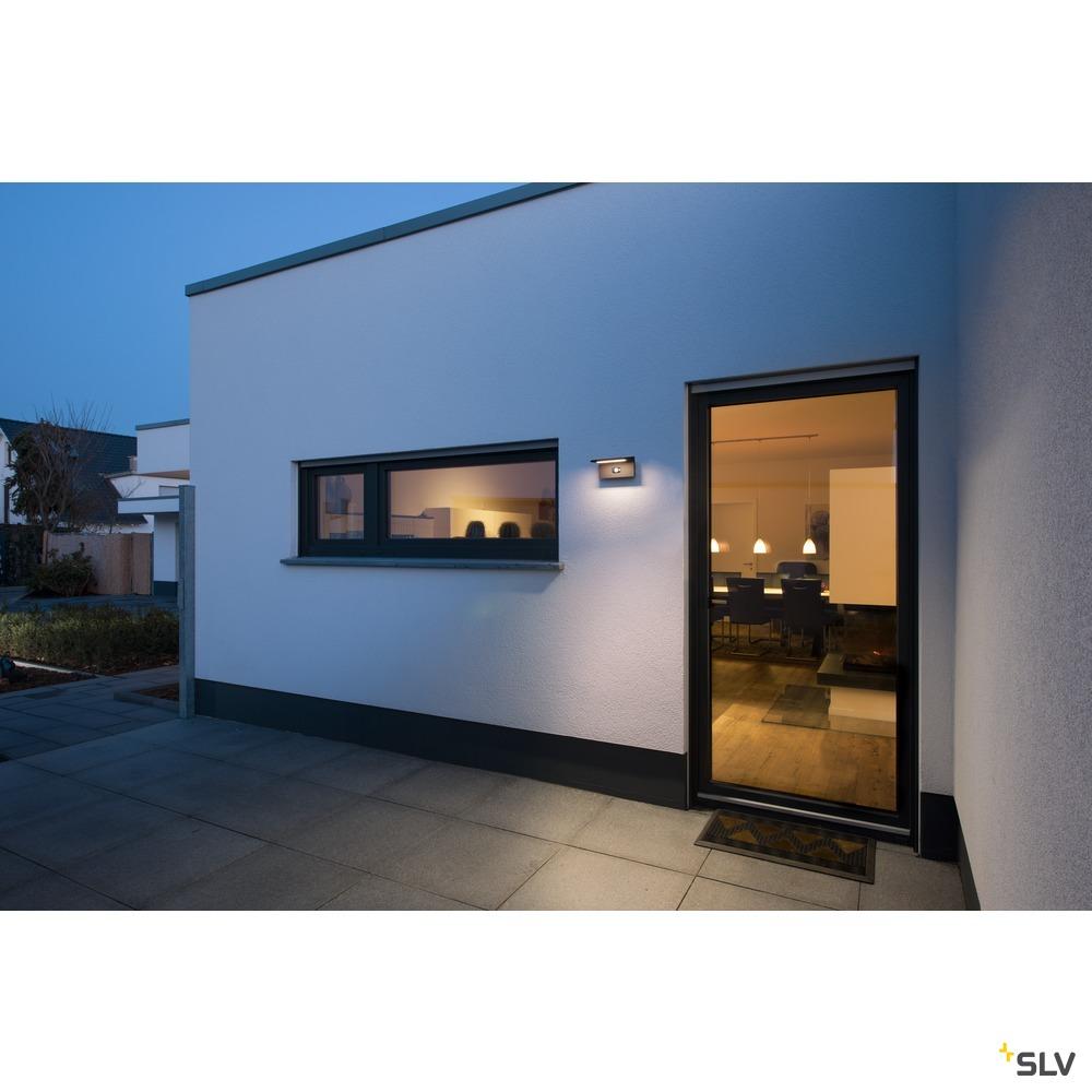 ANGOLUX SOLAR WL, LED Outdoor Wandaufbauleuchte anthrazit 3000K