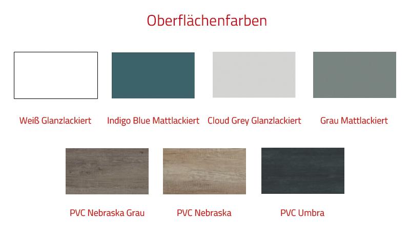 Thielsch Badmöbel Mistral 90 inkl. Waschtisch Cloud Grey Glanzlackiert