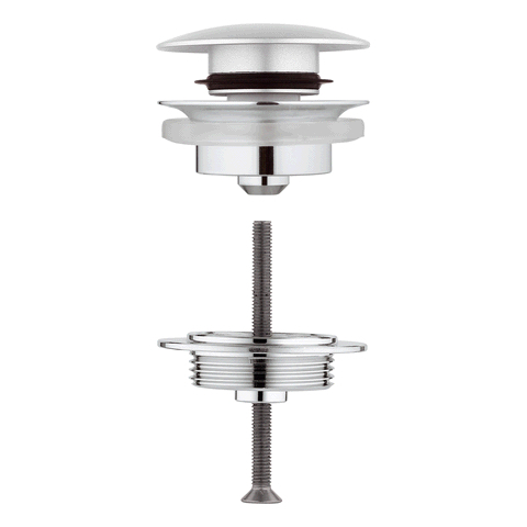 GROHE Ablaufgarnitur 65807 mit Klickverschluss chrom/titanium