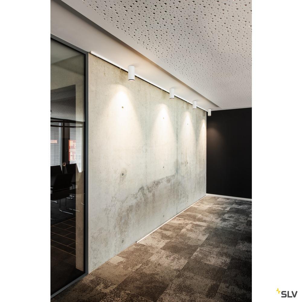 NUMINOS® CL DALI L, Indoor LED Deckenaufbauleuchte weiß/schwarz 4000K 60° weiß