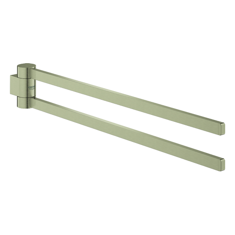GROHE Handtuchhalter Selection 41063 2-armig schwenkbar nickel gebürstet