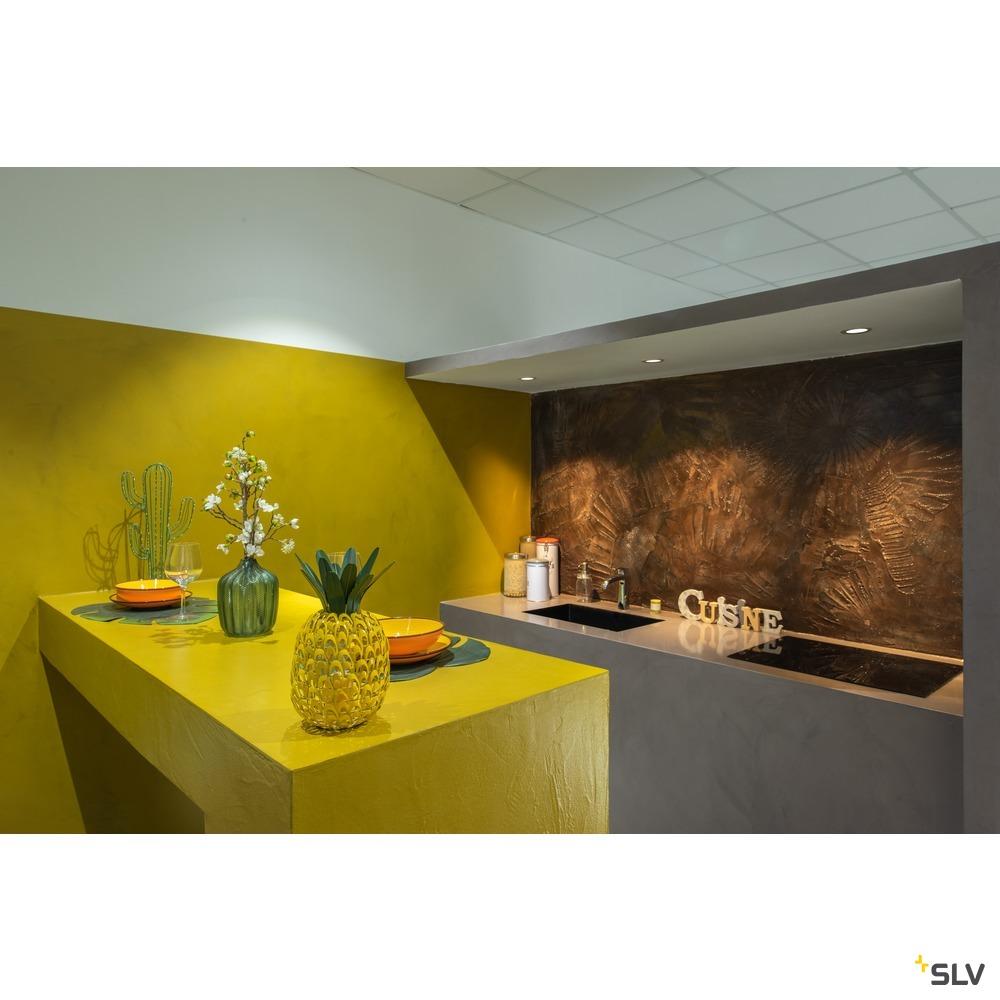 DINGILO, Indoor LED Deckeneinbauleuchte weiß 3000K schwenkbar weiß