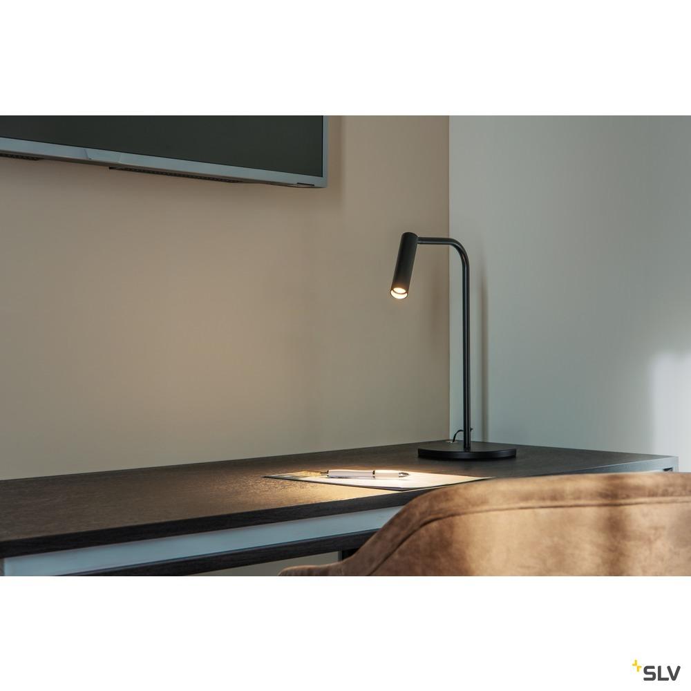 KARPO TL, LED Indoor Tischleuchte, schwarz, 3000K