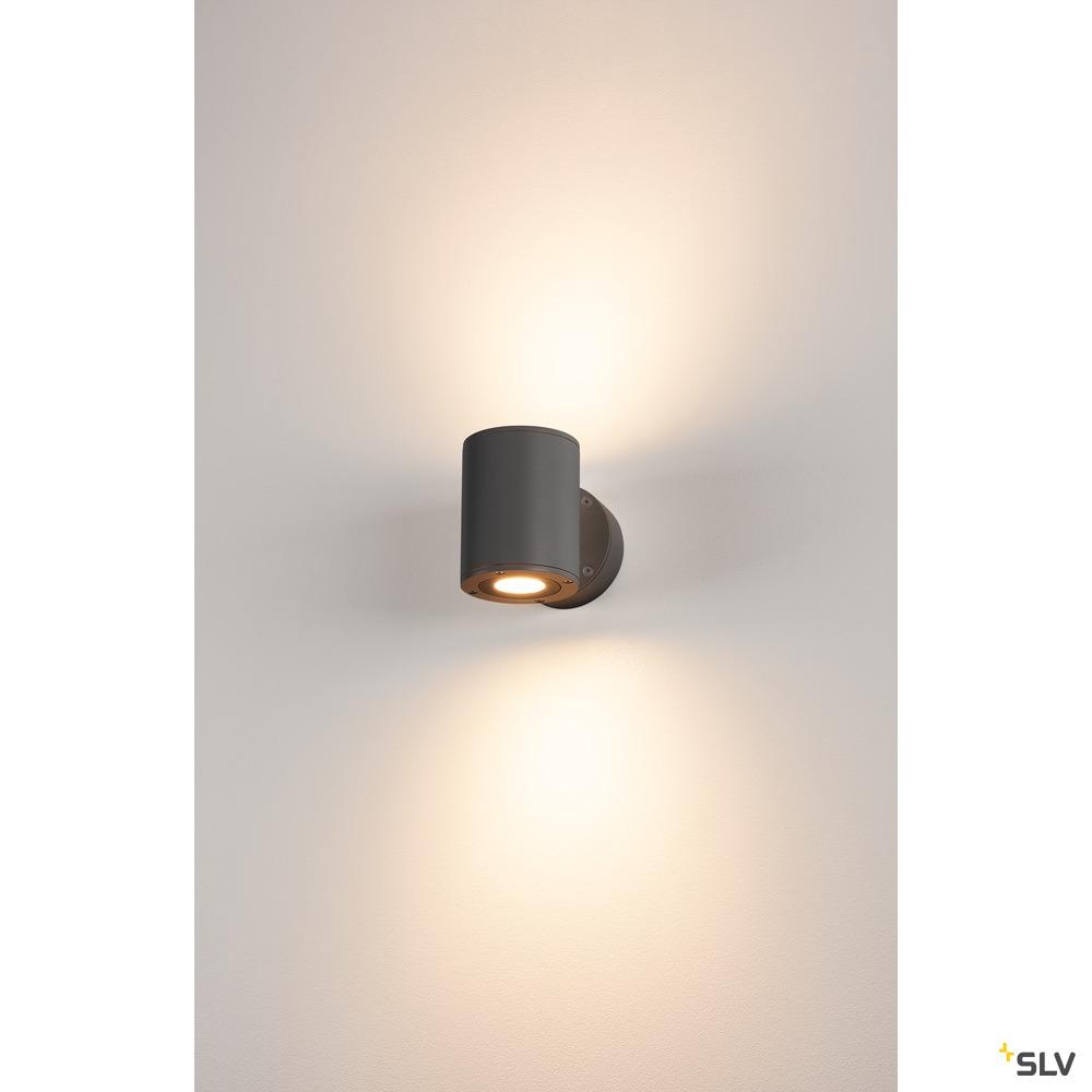 SITRA Up/Down WL, LED Outdoor Wandaufbauleuchte, anthrazit, IP44, 3000K
