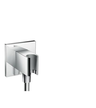 HG Schlauchanschluss Fixfit Porter Square Axor DN15 mit Rückflussverh.chrom
