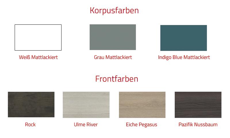 Thielsch Badmöbel Ovalo Set 80 cm Grau Mattlackiert Ulme River exklusive Wandschrank LED 280 mm