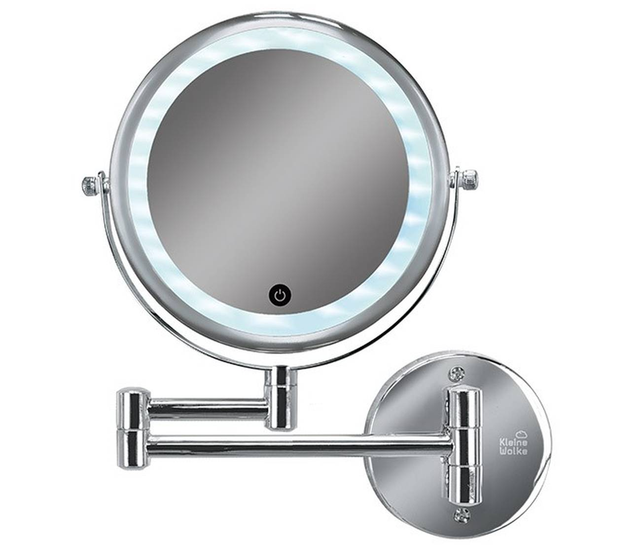 Kosmetikspiegel Lumi Mirror Metall chromiert/Glas/LED Silber Spiegel