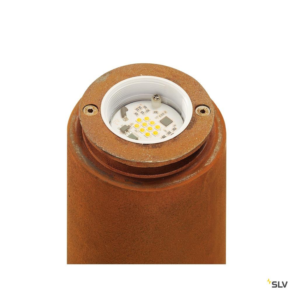 RUSTY 40, Outdoor Standleuchte, LED, 3000K, rund, stahl gerostet, Ø/H 19/40 cm