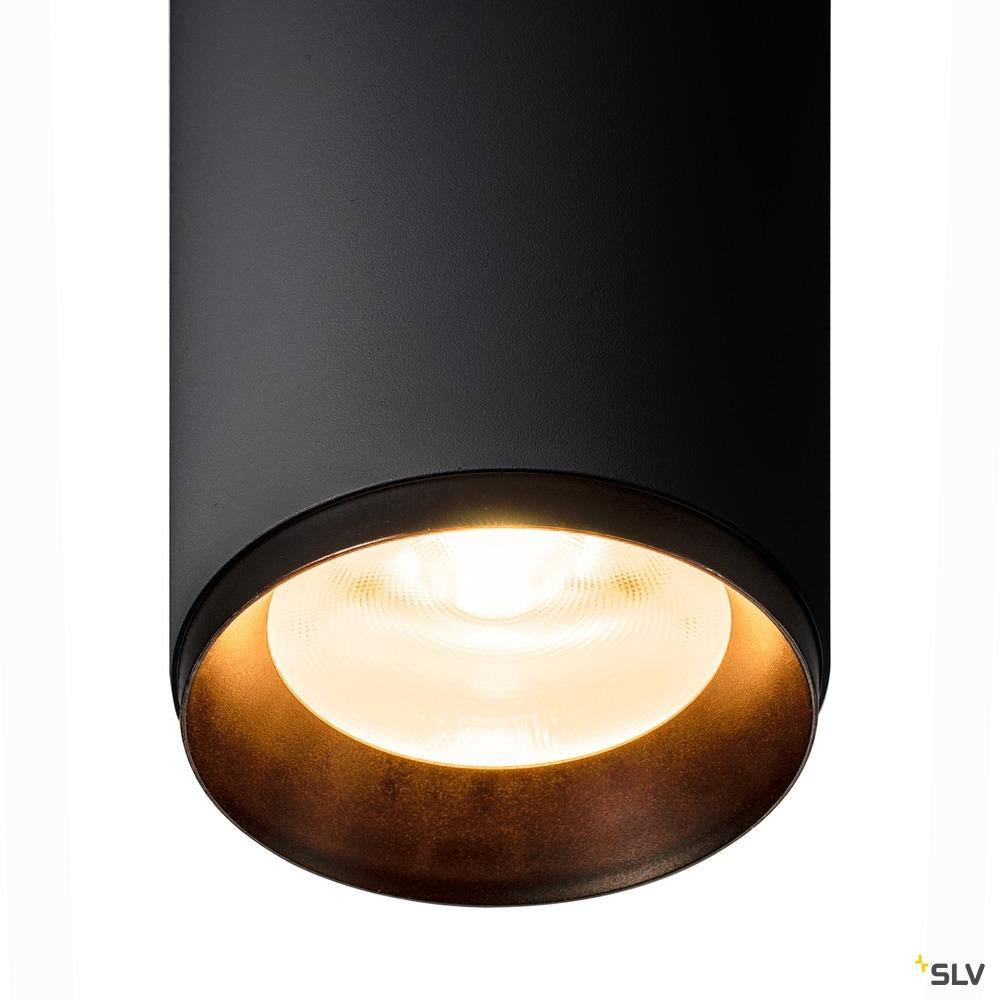 3~ NUMINOS® PHASE L, 3 Phasen System Leuchte schwarz/schwarz 2700K 24°
