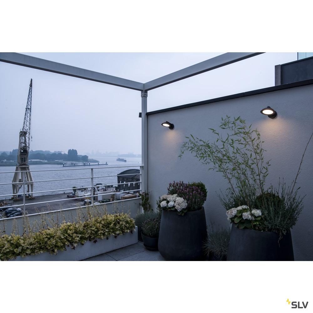 MALU WL, LED Outdoor Wandaufbauleuchte, anthrazit, IP55, 3000K