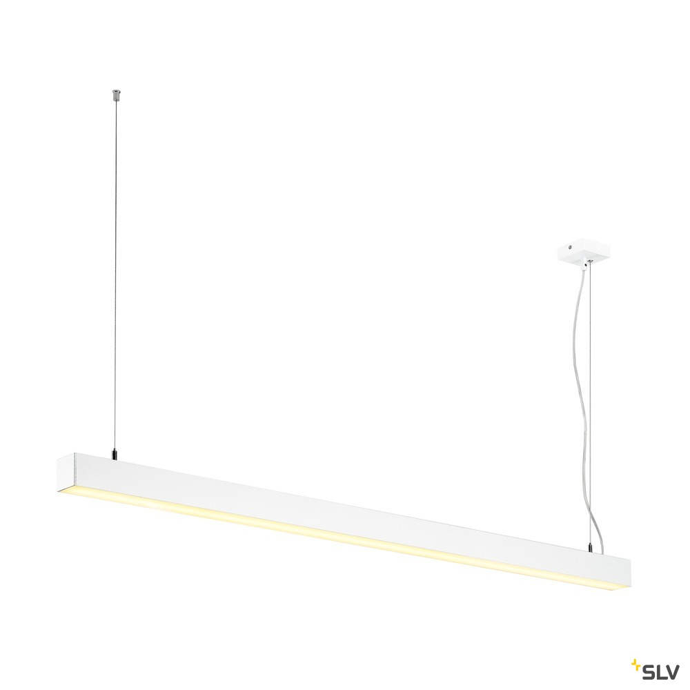 Q-LINE SINGLE LED, Pendelleuchte, 1500mm, weiss