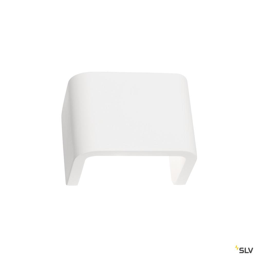 MANA, Leuchtenschirm, B/H/T 13,5/10/9,9 cm, Gips, weiß