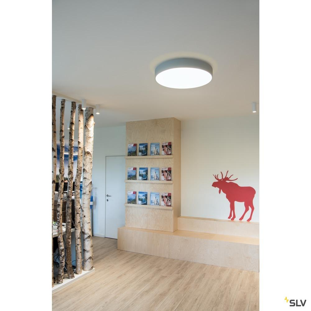 MEDO 60 CW AMBIENT, LED Indoor Wand- und Deckenaufbauleuchte, DALI, silbergrau, 3000/4000K