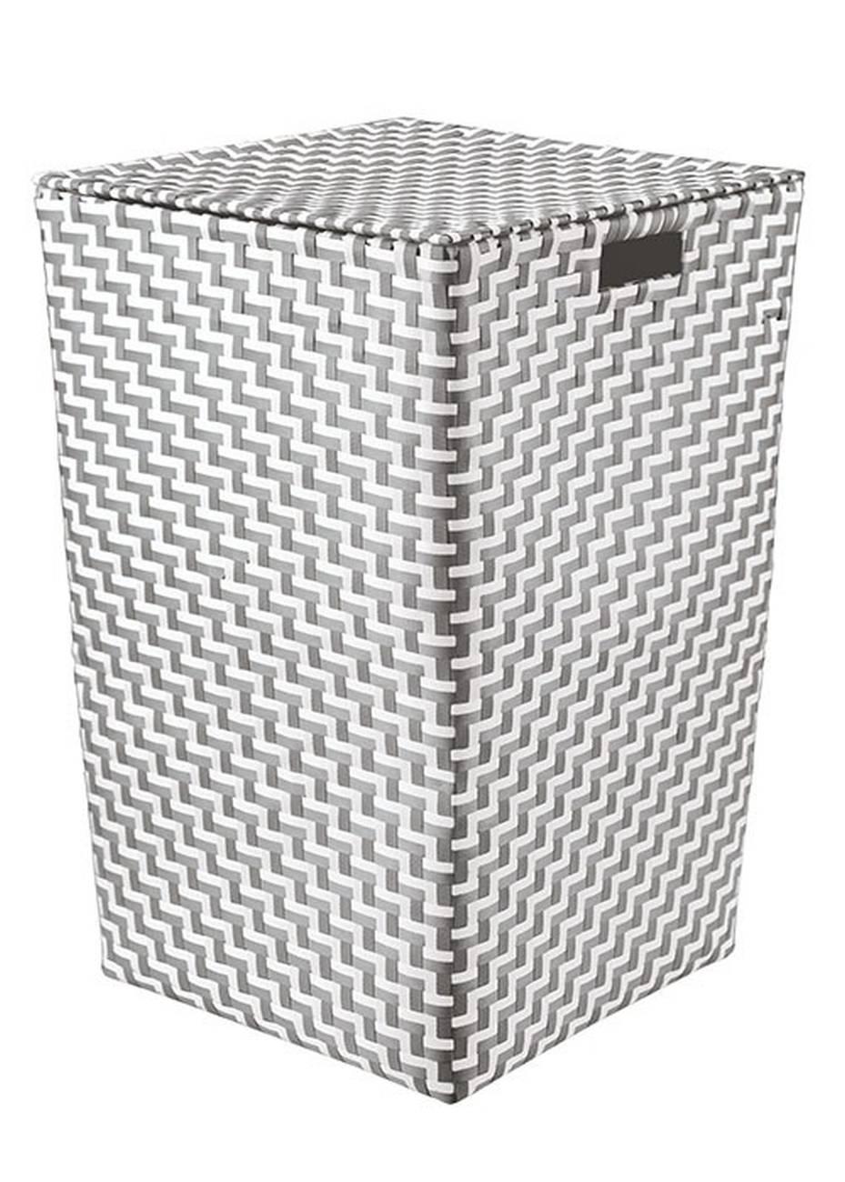 Wäschebox Double Laundry Box 100 % Polypropylen Platin Wäschebox 35x55 cm