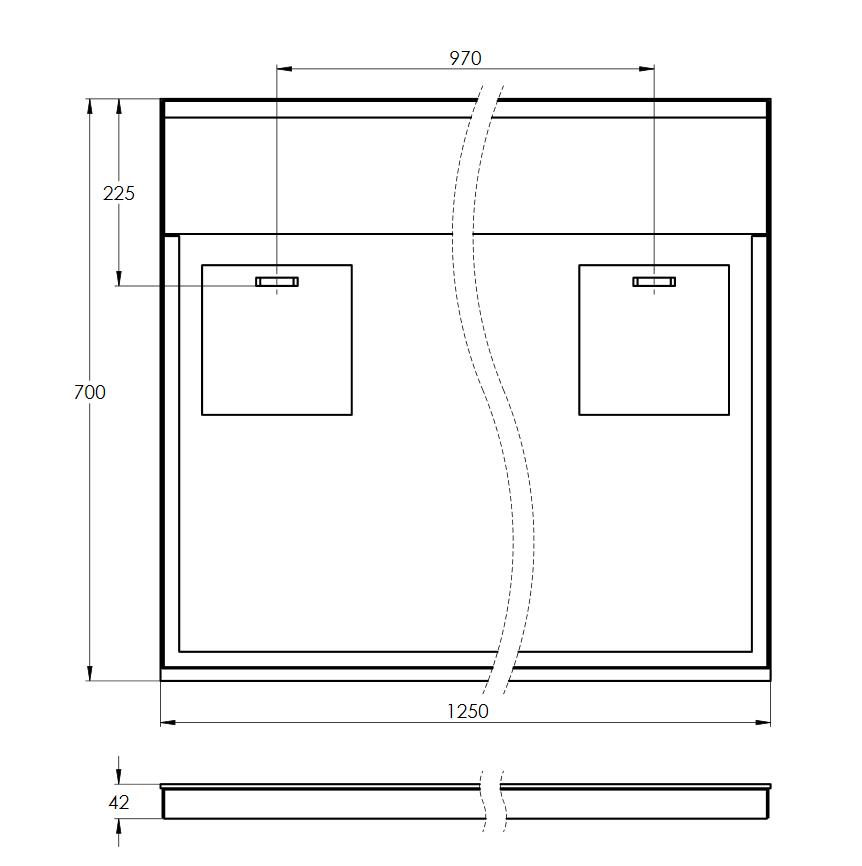 Treos LED-Wandspiegel hinterleuchtet - 1250x700 mm