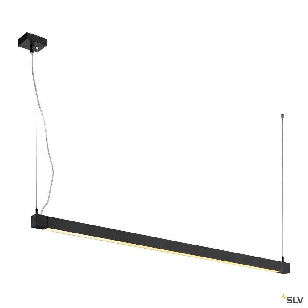 OPEN GRILL, Pendelleuchte, einflammig, LED, 3000K, eckig, schwarz, 4x7,5W