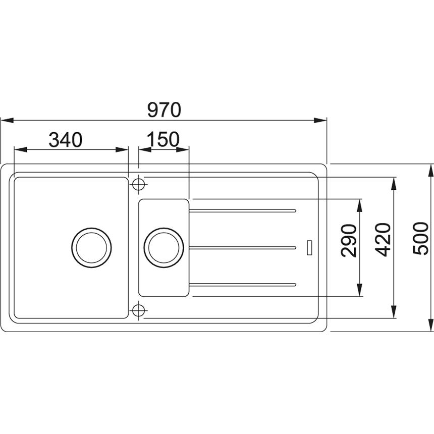 FRANKE Küchenspüle Basis 651 Cashmere (11653)