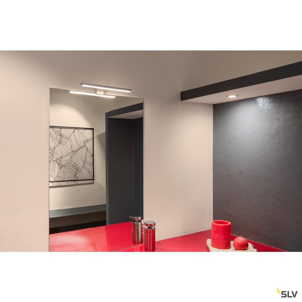 DORISA, Spiegelleuchte, LED, 4000K,  kurz, metal gebürstet, IP44