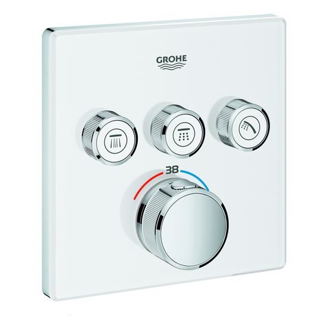 GROHE THM Grohtherm SmartControl 29157 eckig FMS 3 Absperrventile moon white