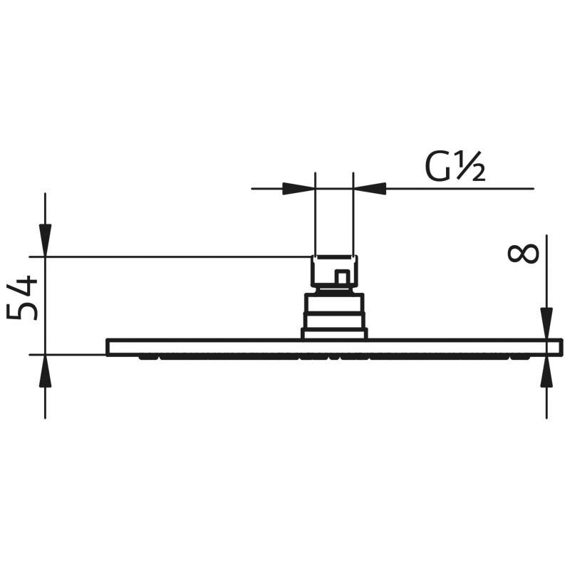 HSK Kopfbrause Rund, flach - Ø250 mm