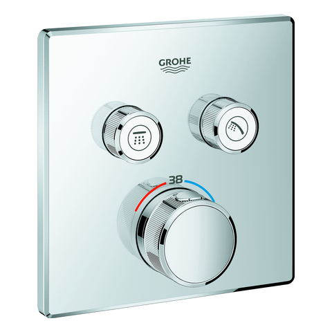 GROHE Thermostat Grohtherm SmartControl 29124 eckig FMS 2 Absperrventile chrom