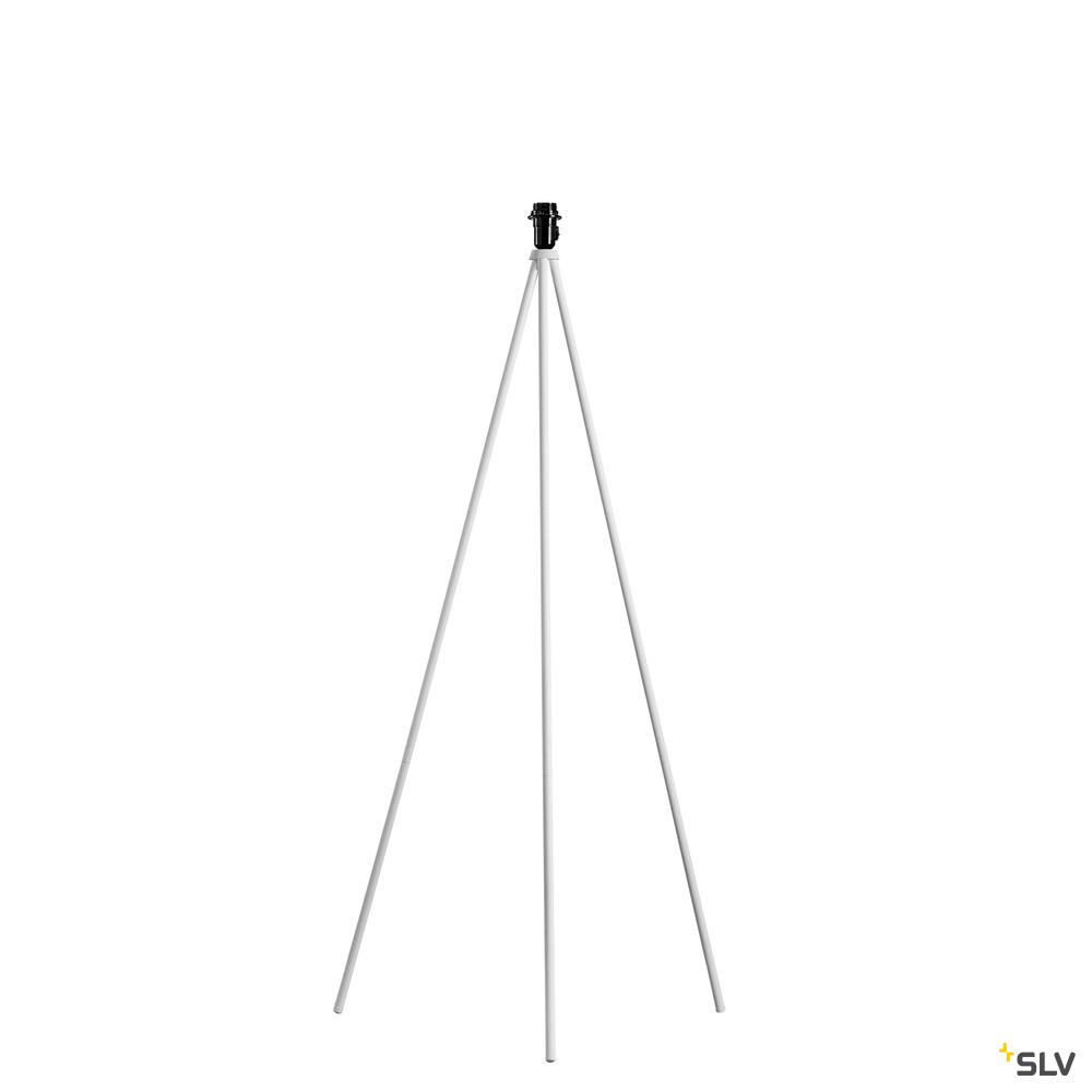 FENDA Standleuchtenfuß II E27, Indoor Stehleuchte weiß ohne Schirm