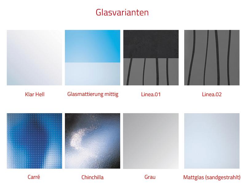 HSK Premium Softcube Seitenwand - 700 mm Links inkl. Aufmaßservice mit Beschichtung Alu Silber-Matt Twin Seal
