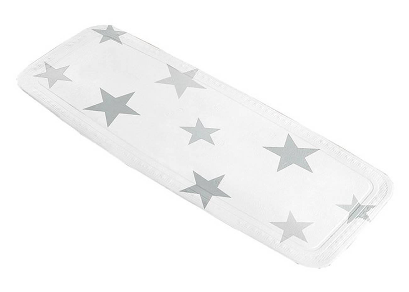 Wanneneinlage Stars PVC Silbergrau 36x 92 cm