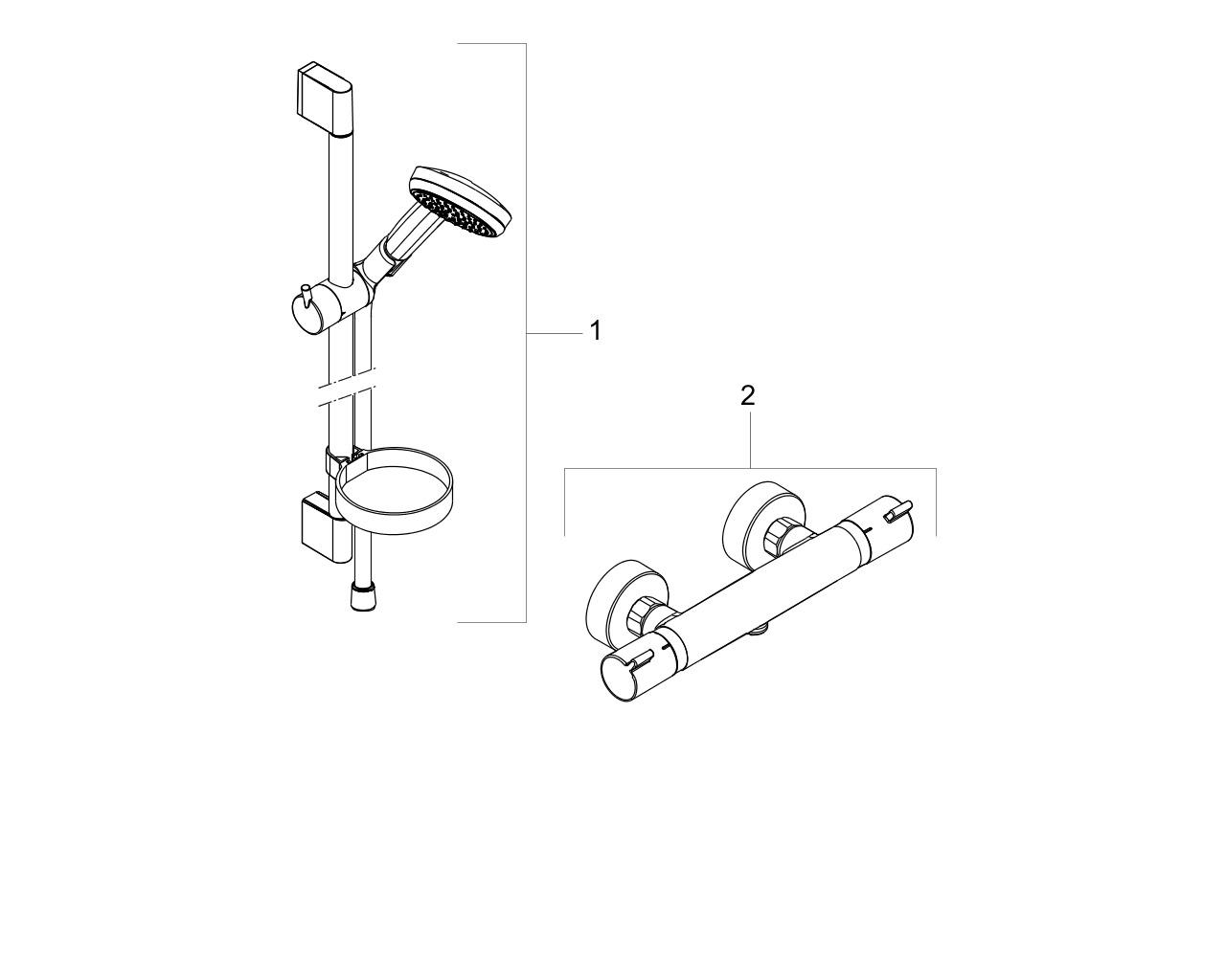 HG Chroma Vario/ Ecostat Cmfort Combi ohne Ecosmart 650 mm